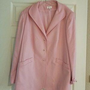 ESCADA pink button up blazer size 46